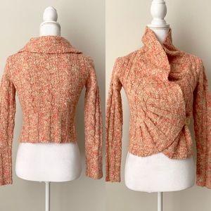 Free People wool blend tweed cardigan